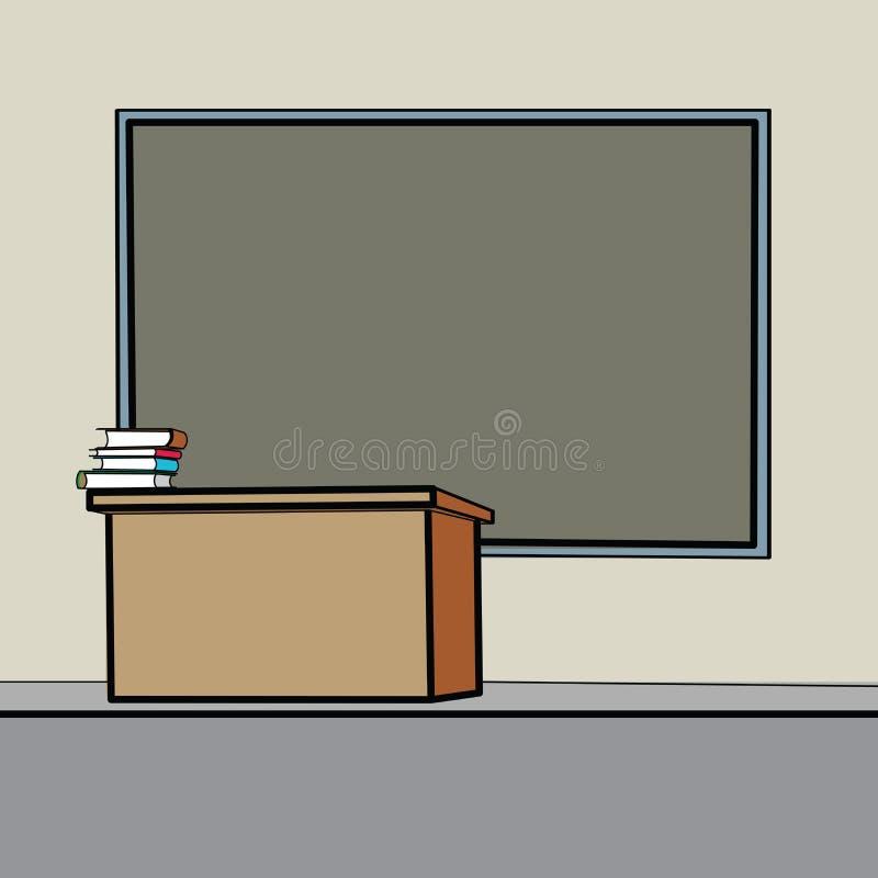 Pizarra del escritorio de la escuela stock de ilustración