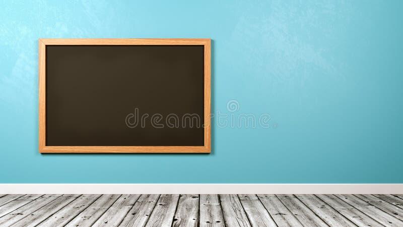 Pizarra en blanco en la pared stock de ilustración
