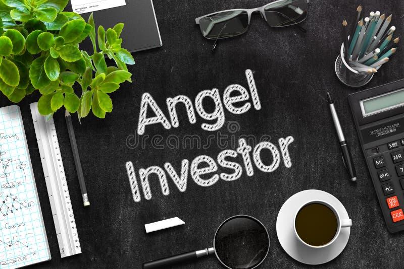 Pizarra negra con Angel Investor Concept representación 3d fotografía de archivo libre de regalías
