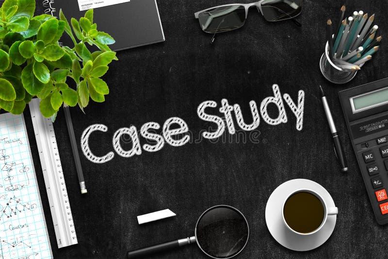Pizarra negra con concepto del estudio de caso representación 3d ilustración del vector