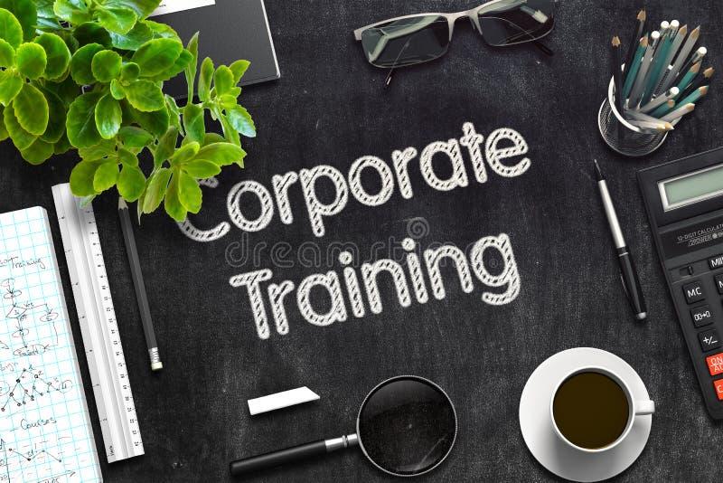 Pizarra negra con el entrenamiento corporativo representación 3d imagenes de archivo