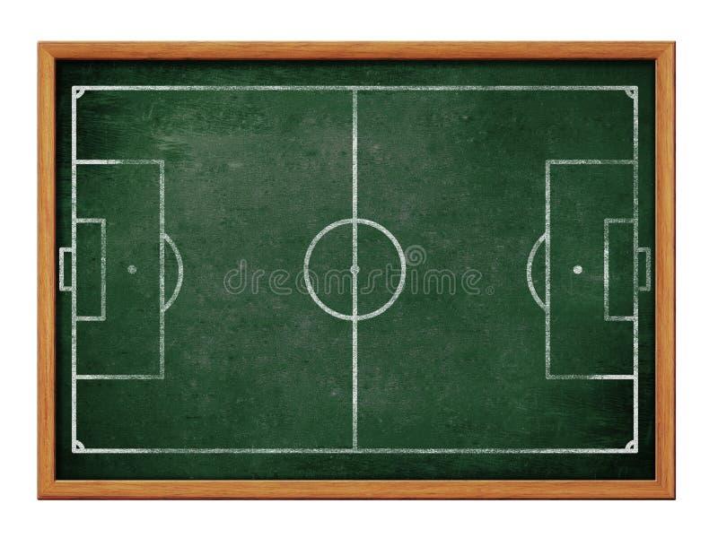 Pizarra para el fútbol o el dibujo de la formación del equipo de fútbol ilustración del vector