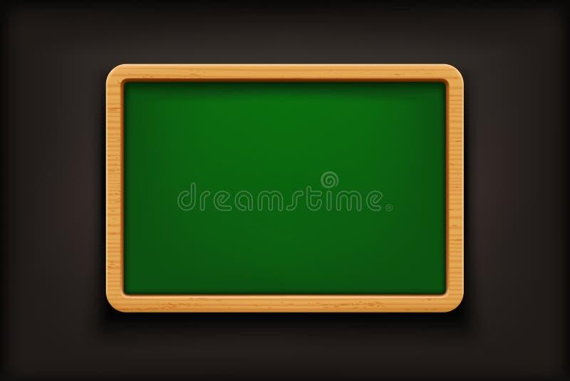 Pizarra verde en negro stock de ilustración