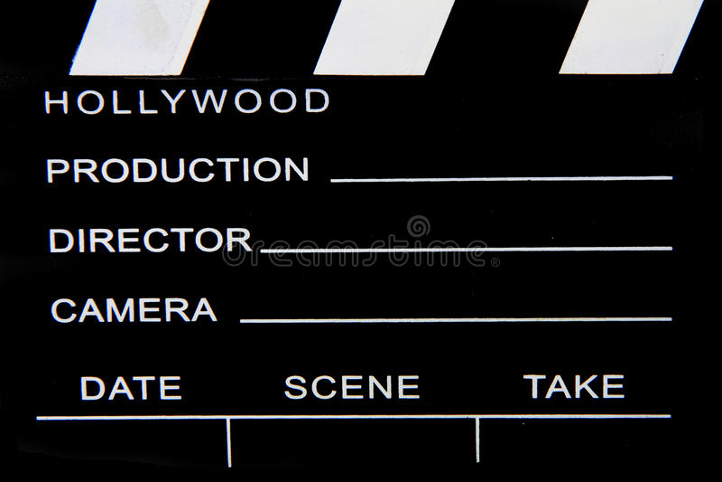 Pizarra vieja de la película fotografía de archivo