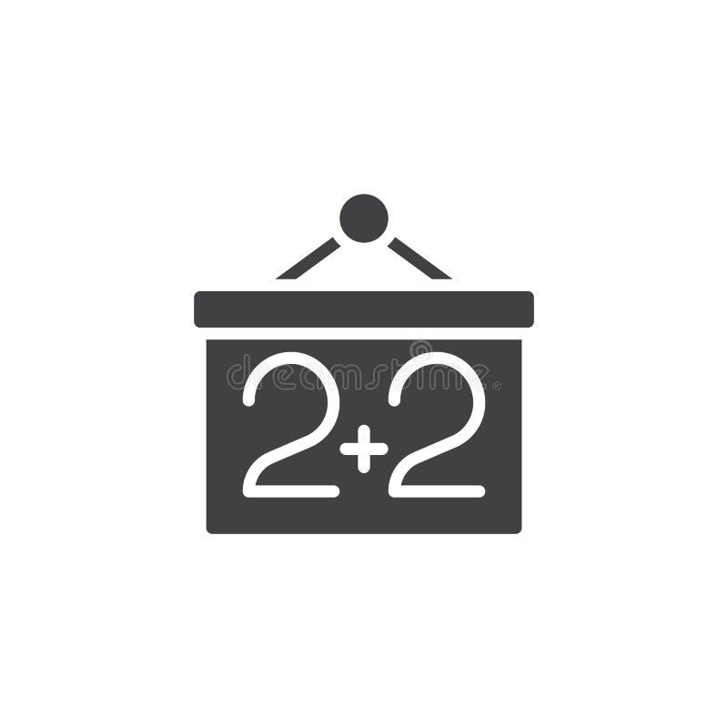 Pizarra y dos m?s icono de dos vectores ilustración del vector