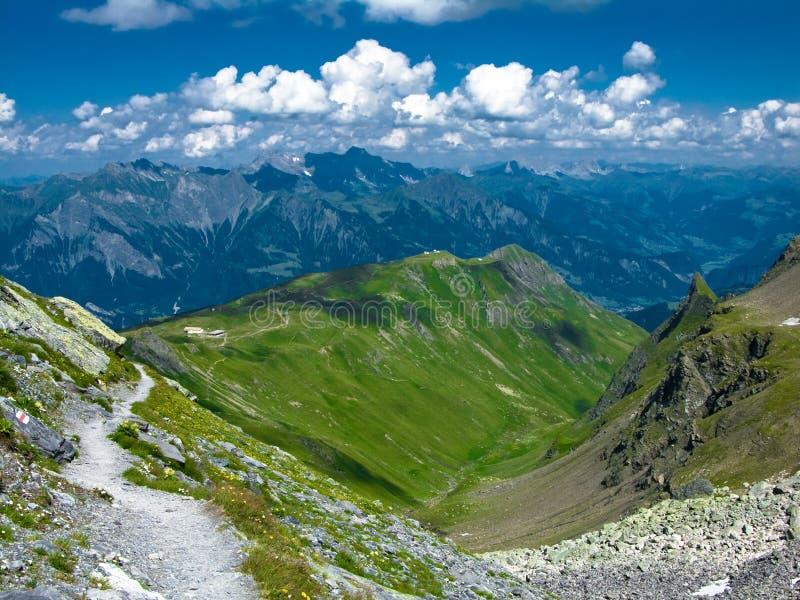 Pizolhutte en Suiza imagenes de archivo