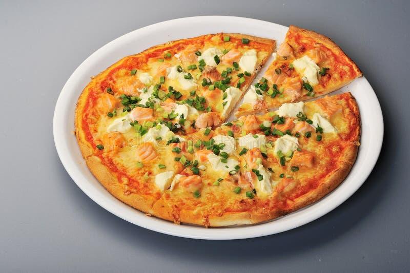 pizza łosoś zdjęcie royalty free
