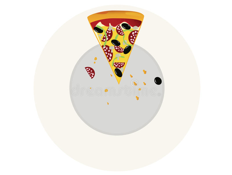 Download Pizza stock vector. Illustration of nobody, meat, gourmet - 13420763