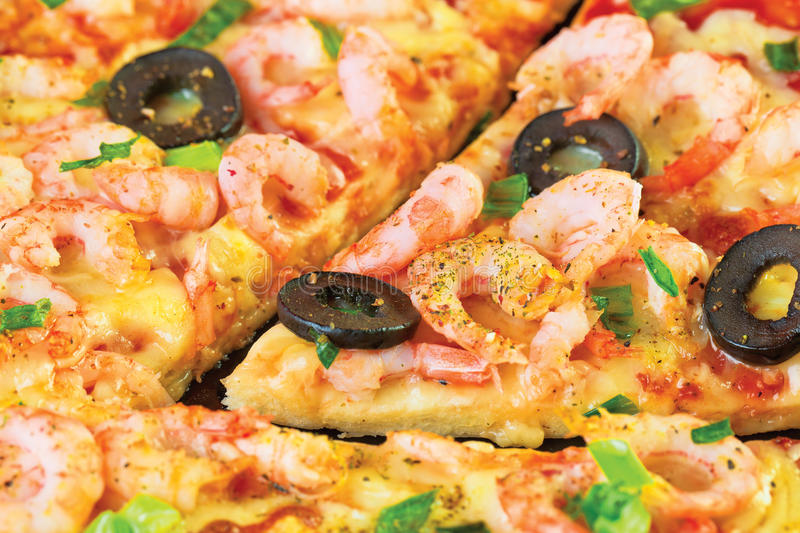 Download Pizza stock image. Image of delicious, shrimp, paste - 14861673
