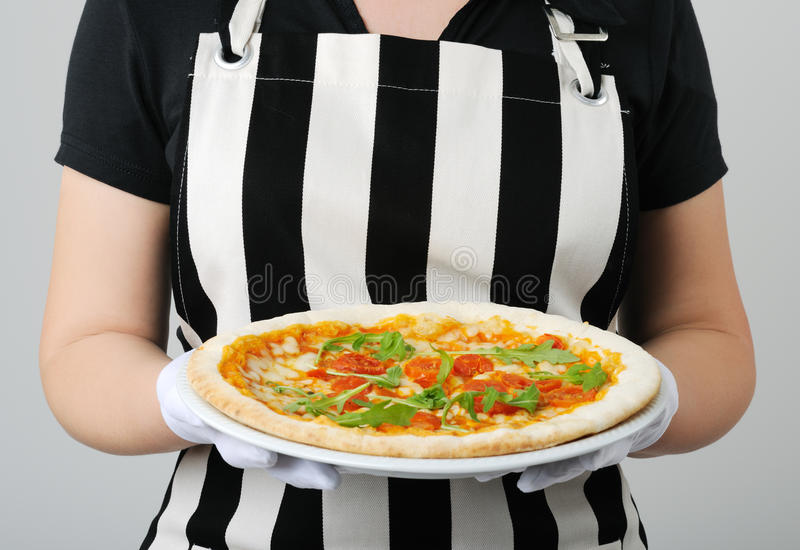 Download Pizza stock photo. Image of meal, holding, housewife - 14923286