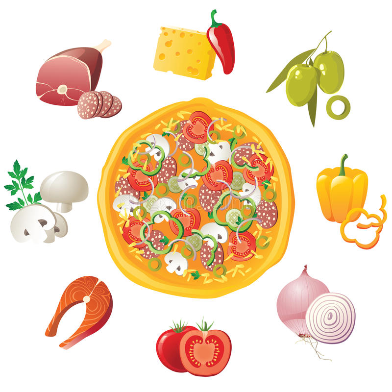 pizza royalty ilustracja