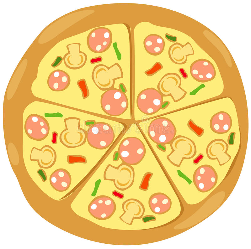 Download Pizza stock vector. Illustration of delicious, crust - 24112685