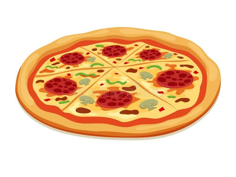 Pizza stock abbildung