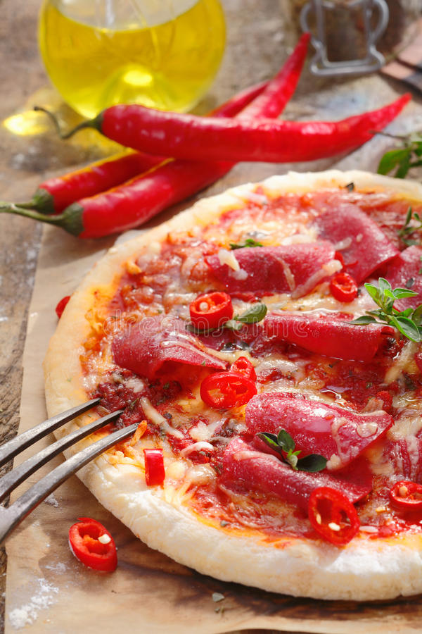 Download Pizza stock photo. Image of carte, junk, peppers, mediterranean - 26561200