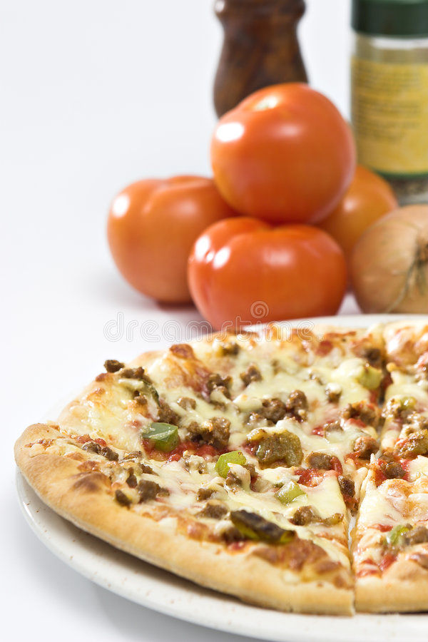 Download Pizza stock image. Image of italian, flour, sauce, ground - 2760275