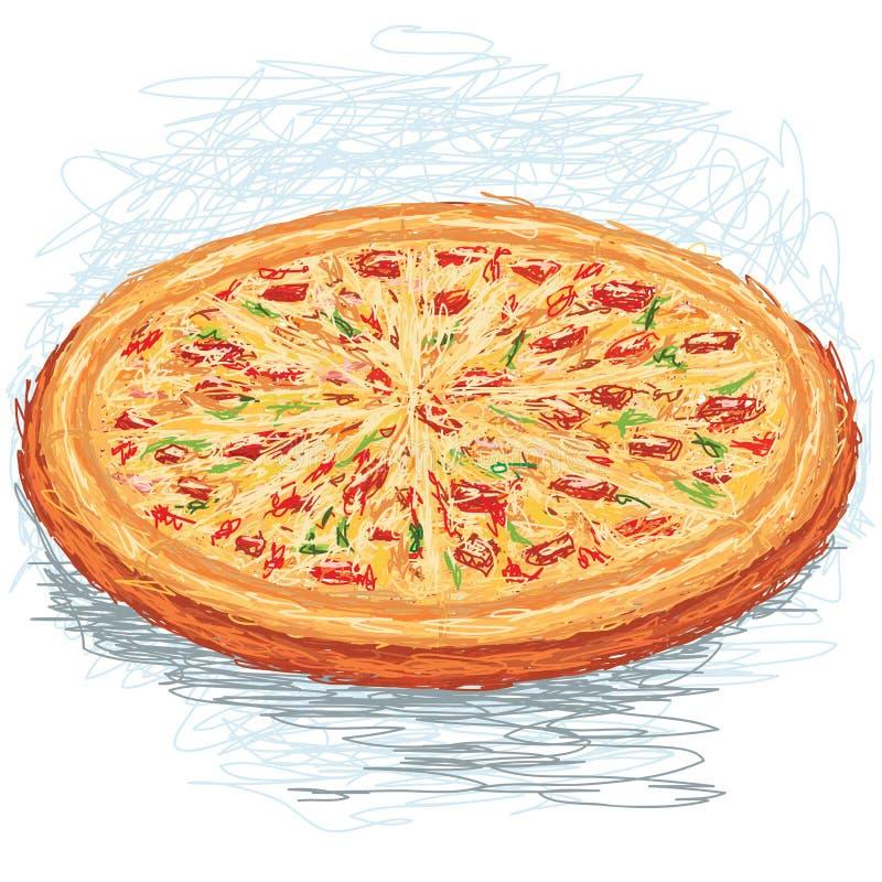 Pizza ilustración del vector