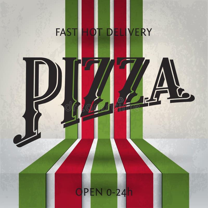 Pizza ilustração do vetor
