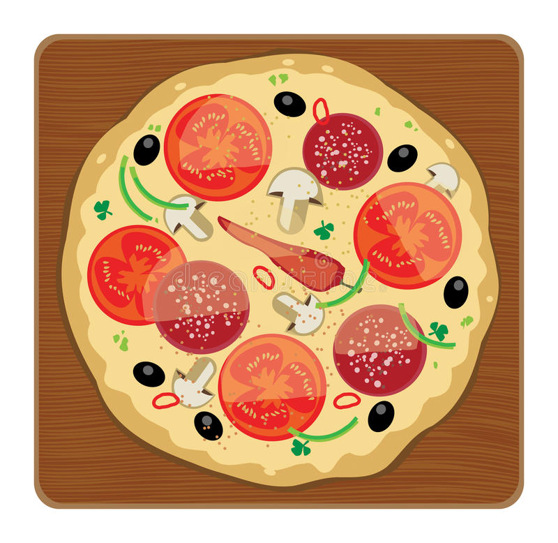 Pizza illustrazione di stock