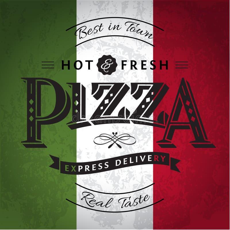 Pizza royalty-vrije illustratie
