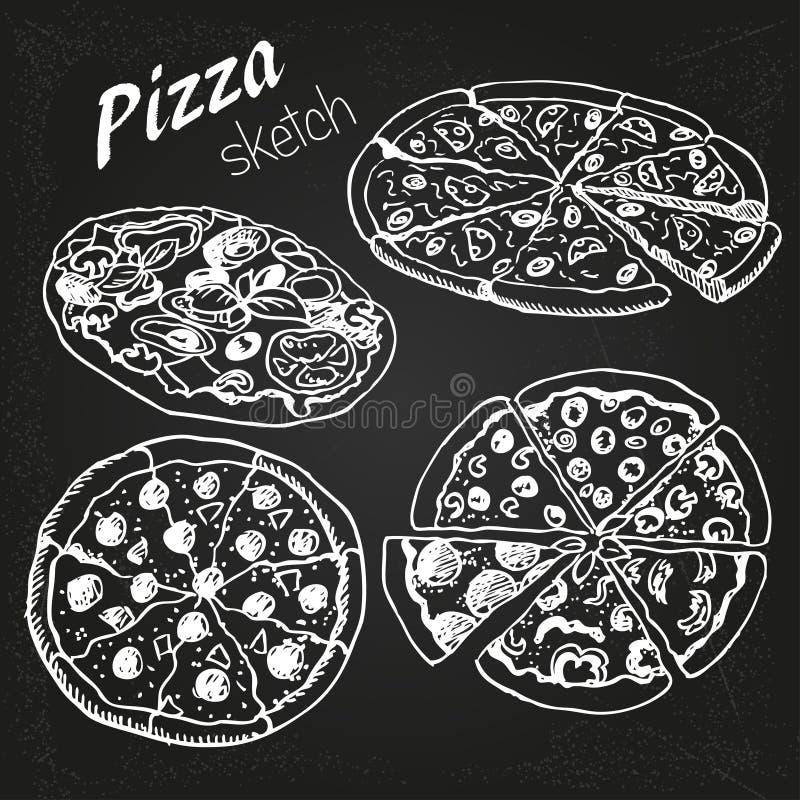 Pizza vektor abbildung