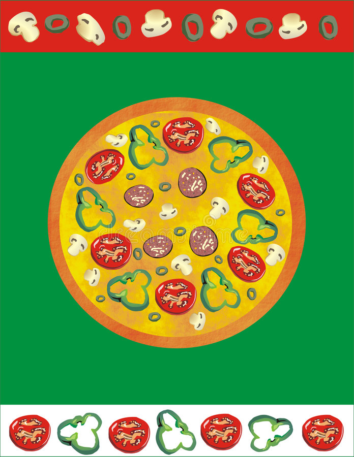 Pizza stock de ilustración