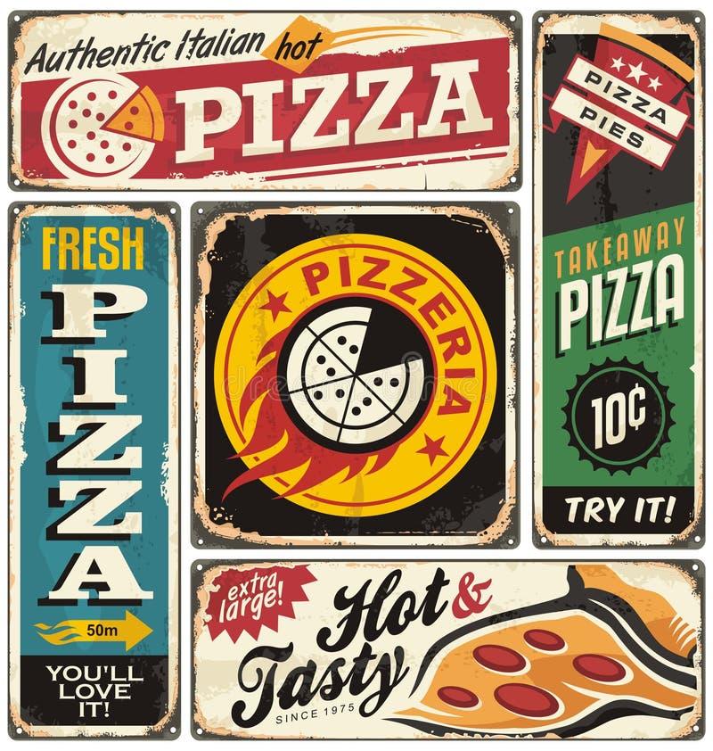 Pizza ilustração stock