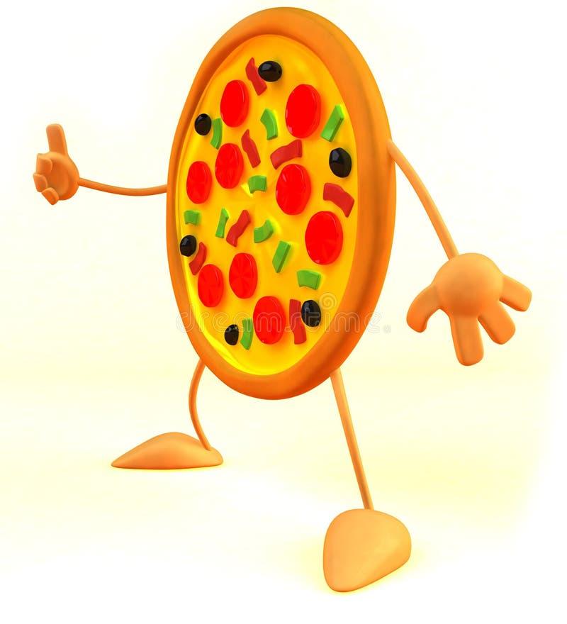 pizza vektor illustrationer
