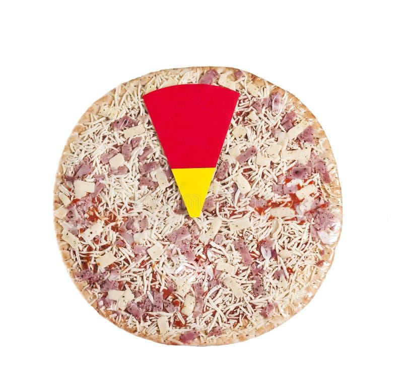 Download Pizza stockbild. Bild von schwarzes, kalorien, arugula - 9091321