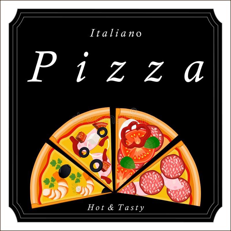 A pizza ilustração royalty free