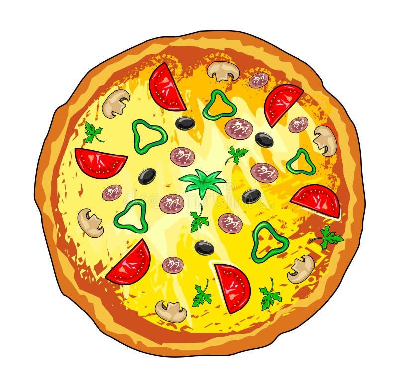 Pizza stock de ilustración