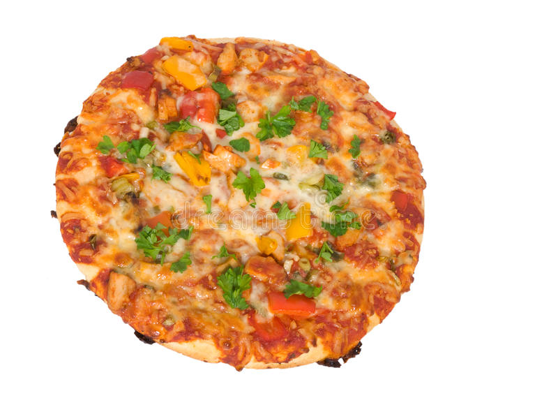 Pizza. Isolated on white background stock photography