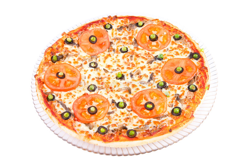 pizza ałun siciliana obrazy stock