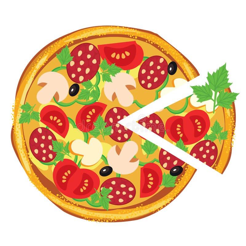 Download Pizza, Abbildung vektor abbildung. Illustration von schnell - 26352642