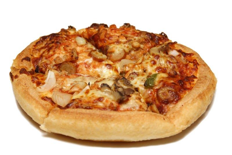 Pizza aislada fotografía de archivo