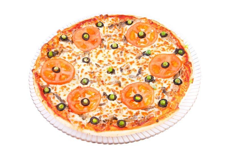 Pizza ala Siciliana stock afbeeldingen