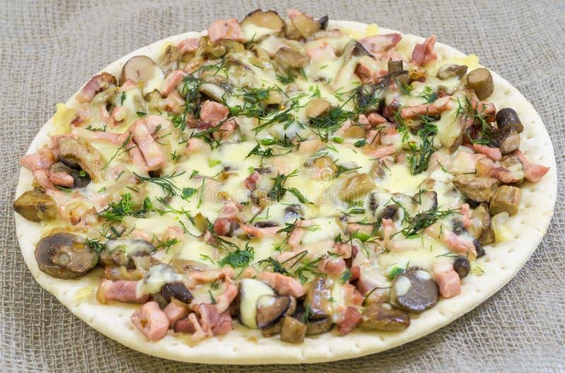 Pizza, alimento, fungo, formaggio, spuntino, buongustaio, pasticceria fotografia stock