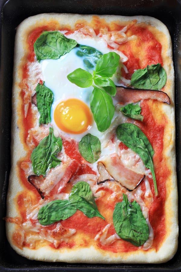 Pizza Alla Bismarck photographie stock