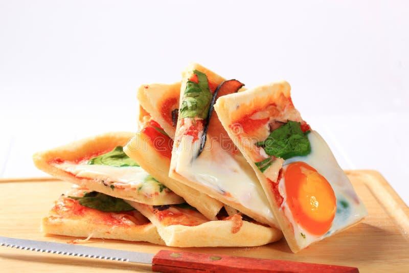 Pizza Alla Bismarck photo libre de droits