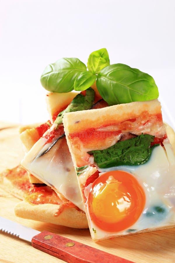 Pizza Alla Bismarck images libres de droits