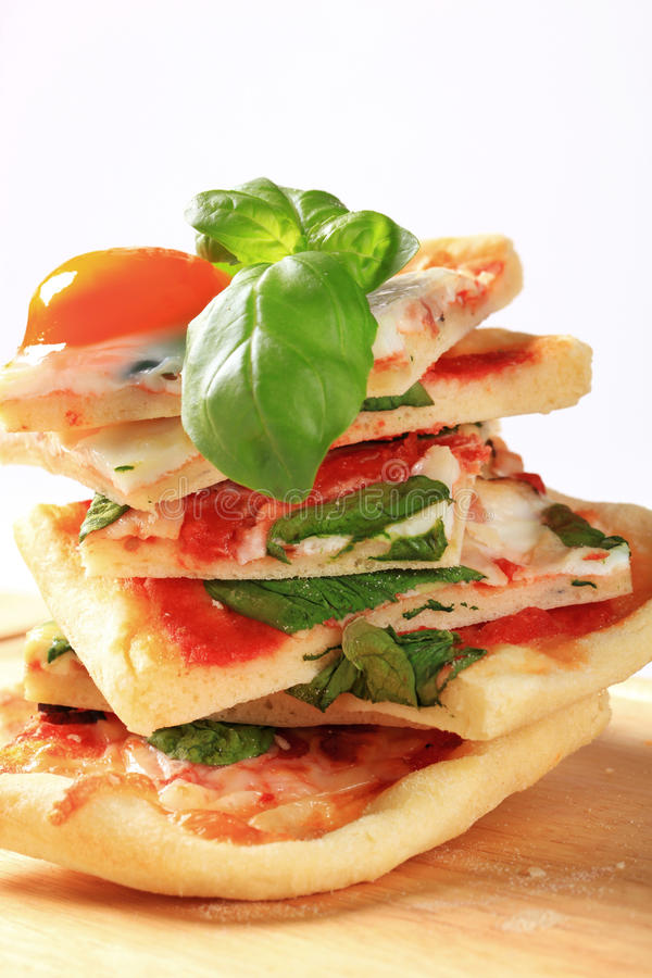 Pizza Alla Bismarck photo stock