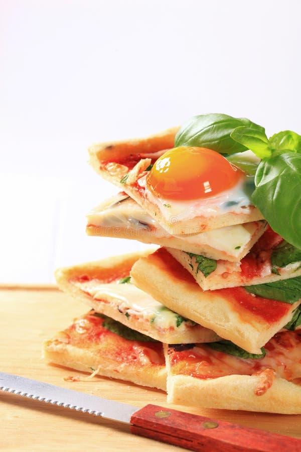 Pizza Alla Bismarck photographie stock libre de droits