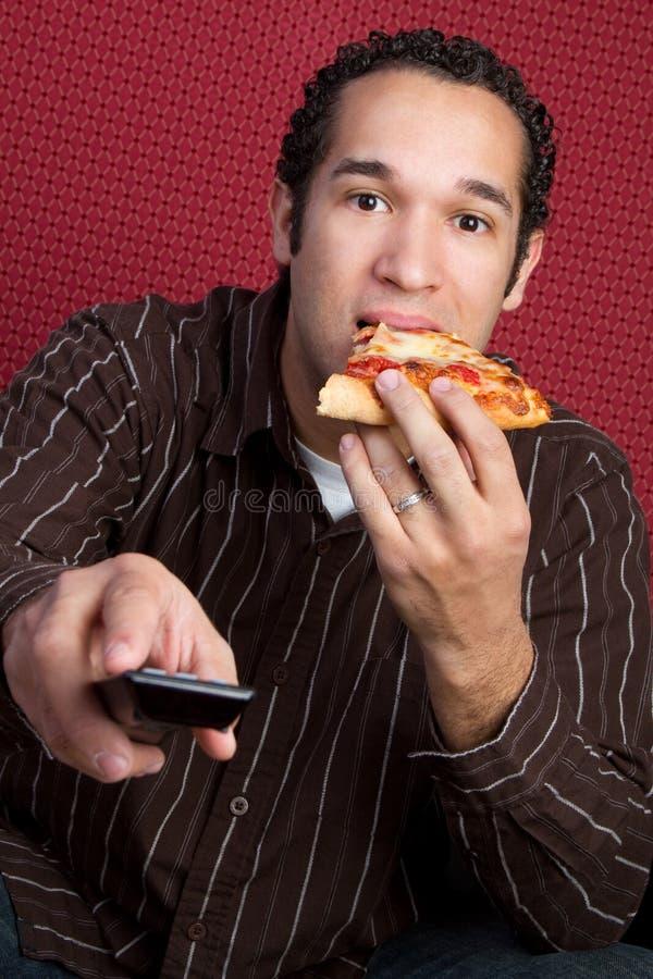 Pizza antropófaga fotografía de archivo