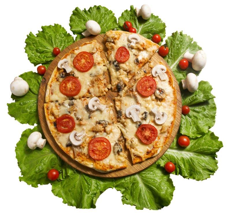 Pizza avec des légumes image libre de droits
