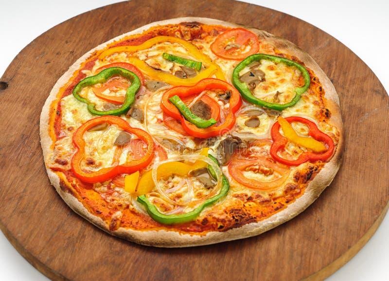 Pizza avec le paprika image stock
