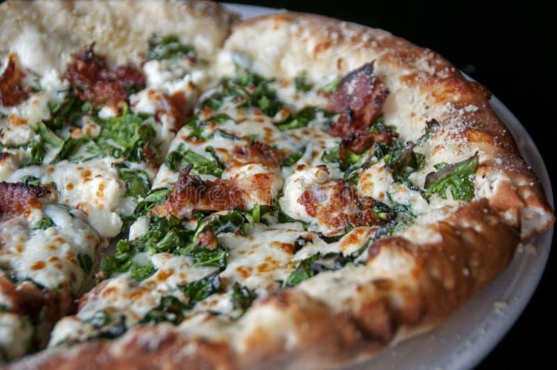 Pizza bianca fotografie stock