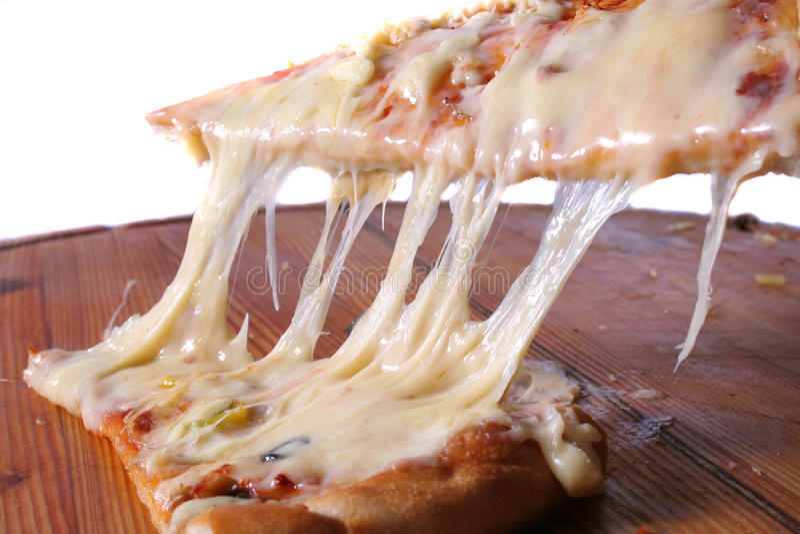 Pizza bianca leggera immagine stock