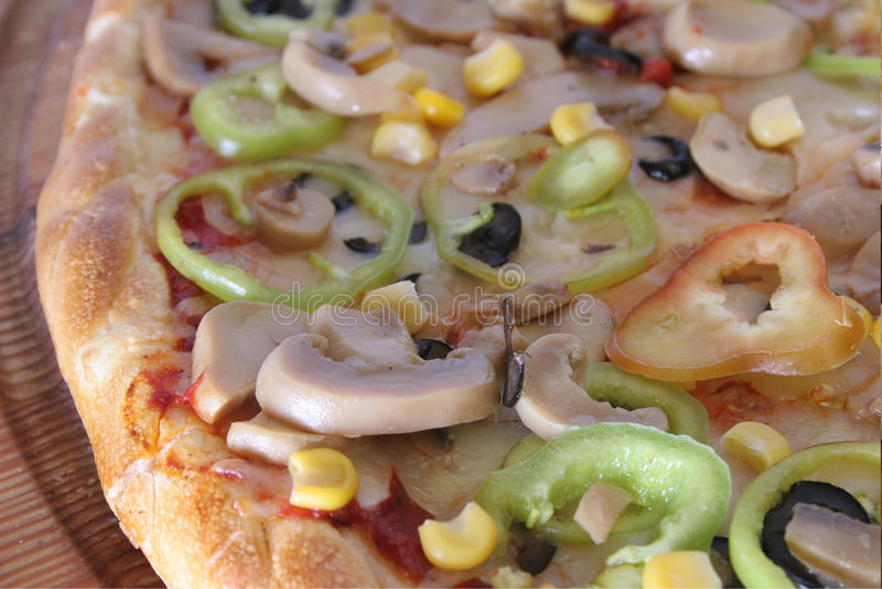 Pizza bianca leggera fotografie stock