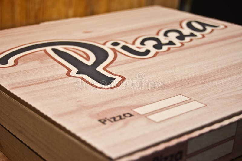 Pizza boxes royalty free stock image