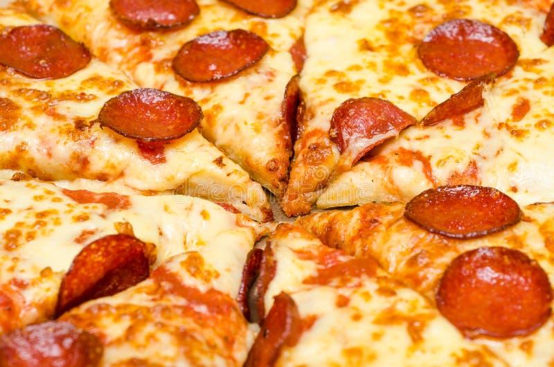 Pizza caliente rebanada foto de archivo libre de regalías