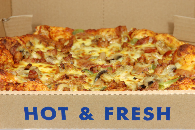 Pizza caliente y fresca foto de archivo